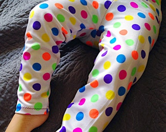 Baby girls spandex neon polka dot leggings// Made to order