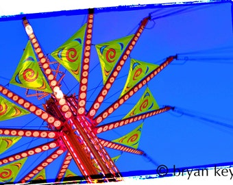 """Carnival Swings photograph on 36"""" x 24"""" canvas"""