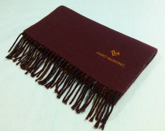 Mario Valentino Wool Scarf Reversible Neck Wrap