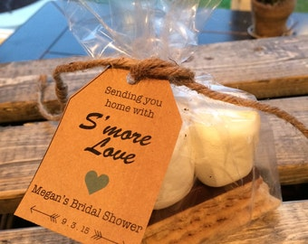 S'More Kits, S'More Favors, Wedding Favors, S'More Wedding Labels, Party Favors, Favors