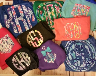 Lilly, Iron On,  Monograms- DIY iron on, Lilly Monograms, Lilly Inspired, Lilly