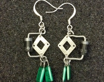 Power Diode and Capacitor Earrings