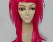 Sin Straight Layered Wig in Hot Pink