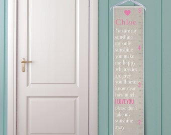 """Personalized """"You Are My Sunshine"""" Growth Chart"""