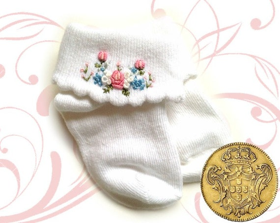 Baby heirloom socks gift set organic cotton by