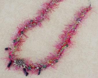 Festive Fiber Necklace