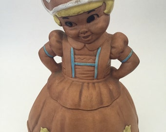 Twin Winton Dutch Girl Cookie Jar from 1950's, California Pottery Vintage Cookie Jar