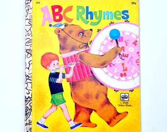 Vintage 1970's ABC Rhymes Golden Book
