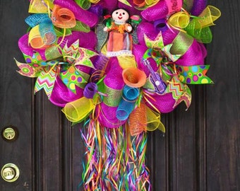 Fiesta Deco Mesh Wreath- Cinco De Mayo