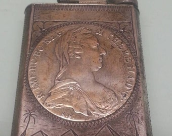 Vintage WW2 Trench art old coin