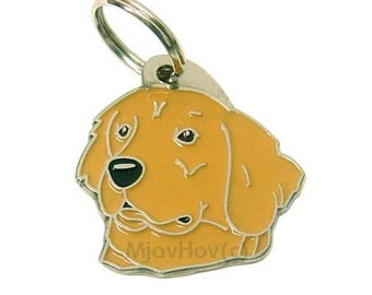 MJAVHOV Custom engraved pet tag GOLDEN RETRIEVER