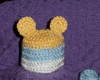 Micro Preemie Hat, Preemie Hat, Micro Preemie Booties, Preemie Booties