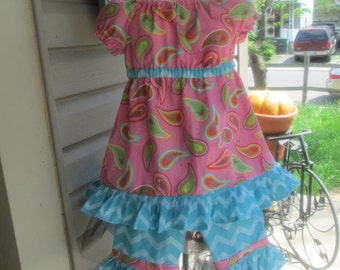 Girls top and capri pant set, girls clothing, girls dress, girls summer dress, Back to school, sizes, 3T, 4T, 5, 6, 7, 8, 10