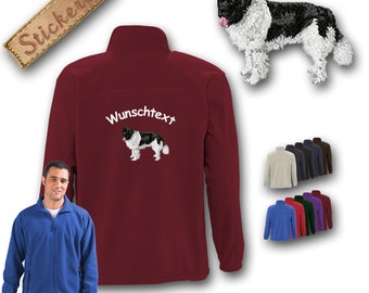 Cosy fleece jacket jacket embroidery dog LANDSEER Great gift idea