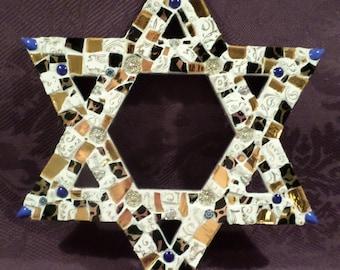 Star of David - Jewish Star - Wall Decor - Mosaic Jewish Star  (Item #1580)