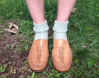 Woven leather Italian Loafers