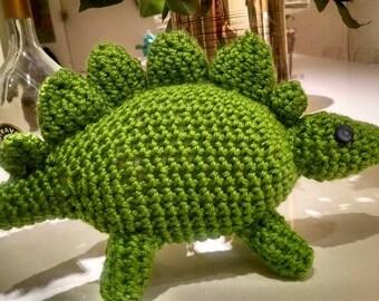 Adorable green dinosaur amigurumi stegosaurus