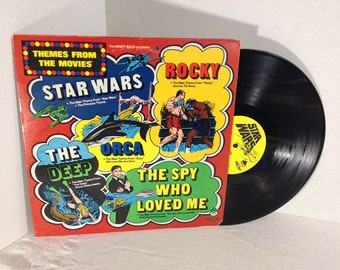 Themes From The Movies Star Wars vinyl record Peter Pan Records Star Wars Rocky Orca The Deep VG+/EX