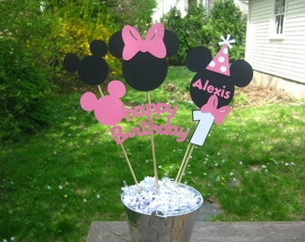 Minnie Mouse Birthday Table Centerpiece, Minnie Mouse Birthday Decorations