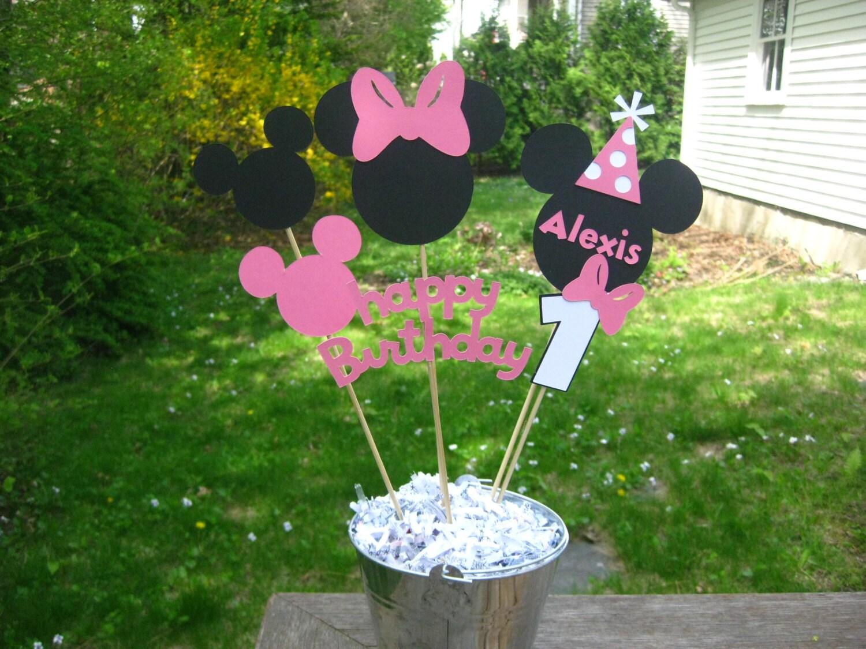 Minnie Mouse Birthday Table Centerpiece Minnie Mouse Birthday