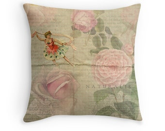 Gift for Dancer, Floral Cushion, Dancer Cushion, Ballet, Ballerina, Dance, Ballet Cushion, Dance Decor, Camellia, Flower Throw Pillow