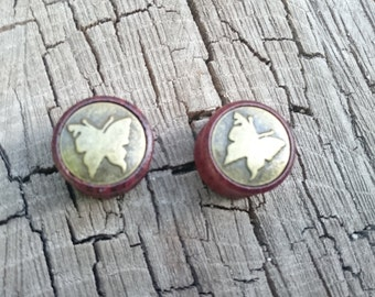 Butterfly, Plugs sizes12,14,16,18,20, MM  Rose Wood