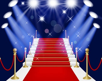 Red carpet Photography Background Wedding Stage photo background, stairs photo backdrop D4123