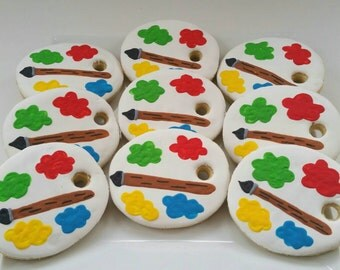 Custom Painting Palette Cookies One dozen (Individually Bagged)