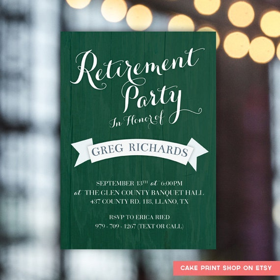 Men's retirement party invite Golf retirement party