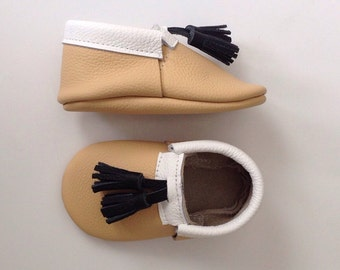 Leather Loafer Moccasins with Tassels