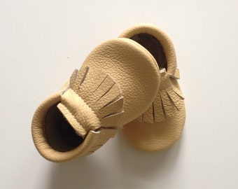 Sand Leather Baby Moccasins