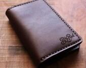 Big Red Beard Comb - Leather Bi-Fold Wallet - Walnut