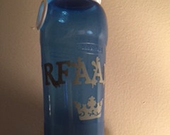 Water Bottle with Vinyl Lettering and Design