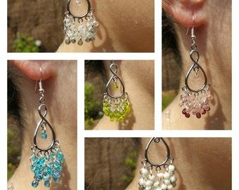 Dangling earrings drops