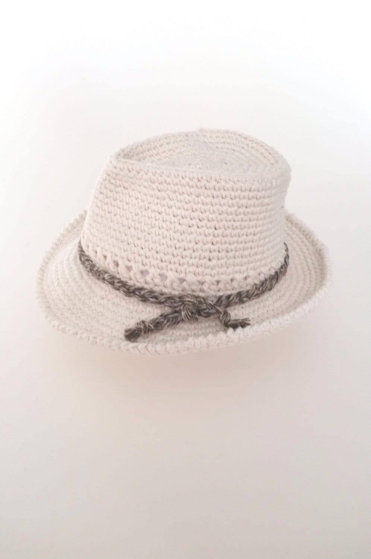 e5a3630b1 Baby Boy Fedora Hat And Bow Tie Set Crochet Cotton Newborn - Www ...