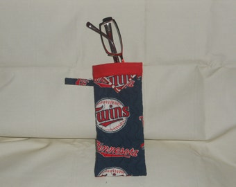 Minnesota Twins -  Reading Glasses Case - Quilted Fully Lined