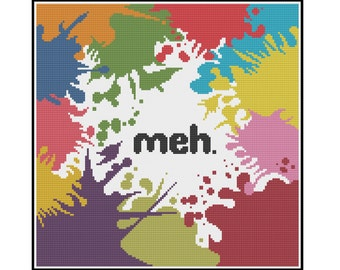 Meh - Counted Cross Stitch Pattern (X-Stitch PDF)