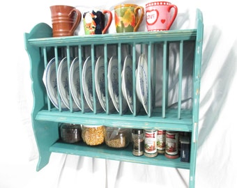 Kitchen Organizer, Plate Rack, Hanging & Free-Standing ~ Painted