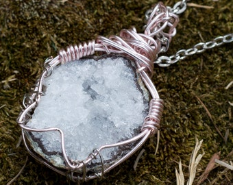 Raw Geode Necklace I ( Clearance )