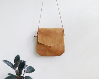 Geode Bag - large leather crossbody bag