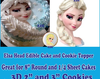 Edible Elsa's Anna's Face Cake decorations Disney's Frozen Sugar head Frosting picture fondant decal transfer Edible paper Sugar Decals
