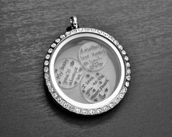 Personalized Floating Charms for Floating Lockets-Handmade-Clear-11mm &18mm-Great Gift Ideas