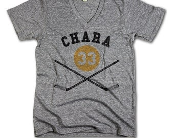 Zdeno chara NHLPA Officially Licensed Boston Men's V-Neck XS-2XL Zdeno chara sticks Y