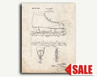 Patent Art - Ice Skate Patent Wall Art Print