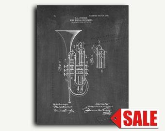 Patent Art - Wind Musical Instrument Patent Wall Art Print