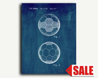 Patent Art - Soccer Ball Patent Wall Art Print