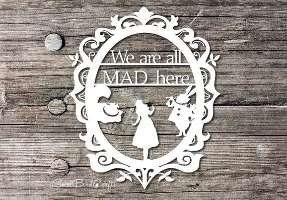 Papercutting Template Personal Use Alice In Wonderland