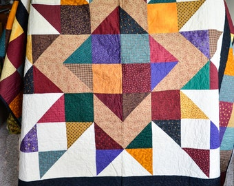 Star quilt - free shipping
