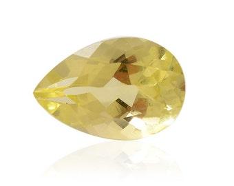 Green Gold Quartz Triplet Pear Cut Loose Gemstone 1A Quality 12x8mm TGW 2.40 cts.