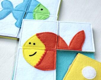 Puzzle, GoldFish, Busy Bag, Activity Toddler, Felt Toy, Montessori, Easter Basket, Learning